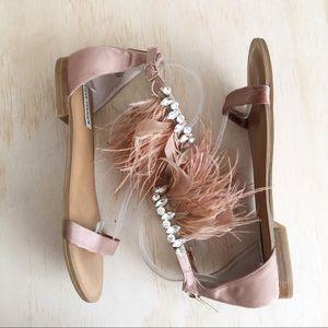 Steve Madden | embellished feather sandals 9